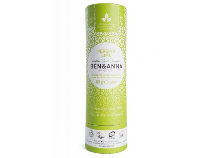 Ben & Anna Tuhý deodorant (60 g) - Perská limetka - nezanechává lepivý pocit v podpaží