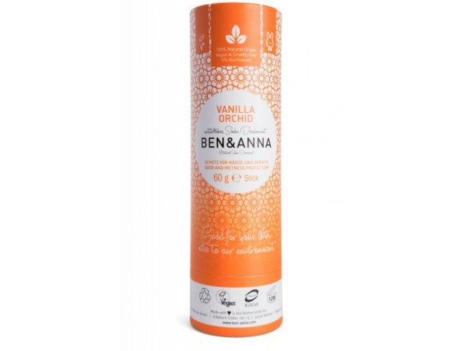 Ben & Anna Tuhý deodorant (60 g) - Vanilková orchidej - vůně podržená kapkou sladké vanilky