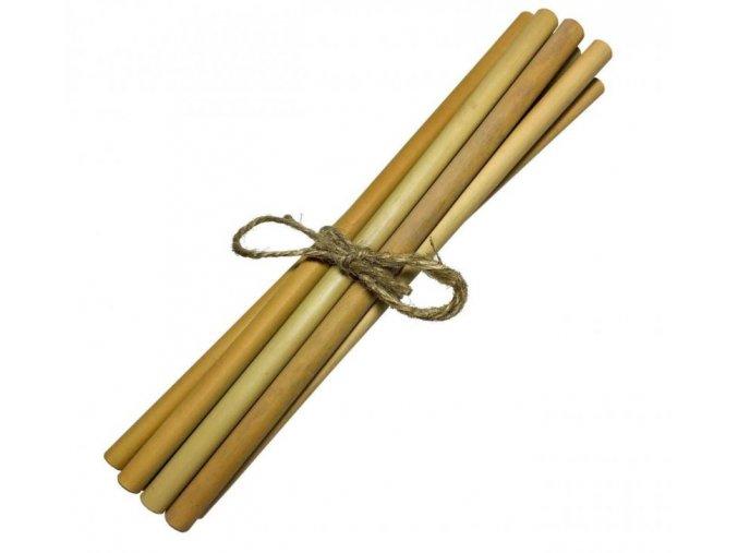 Mobake Bambusové brčko nebalené - bez nápisu (10 ks) - z udržitelně pěstovaného bambusu