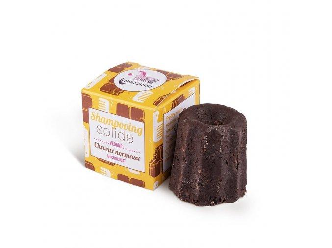 Lamazuna Tuhý šampon pro normální vlasy - čokoláda (55 g) - šetří přírodu i peněženku