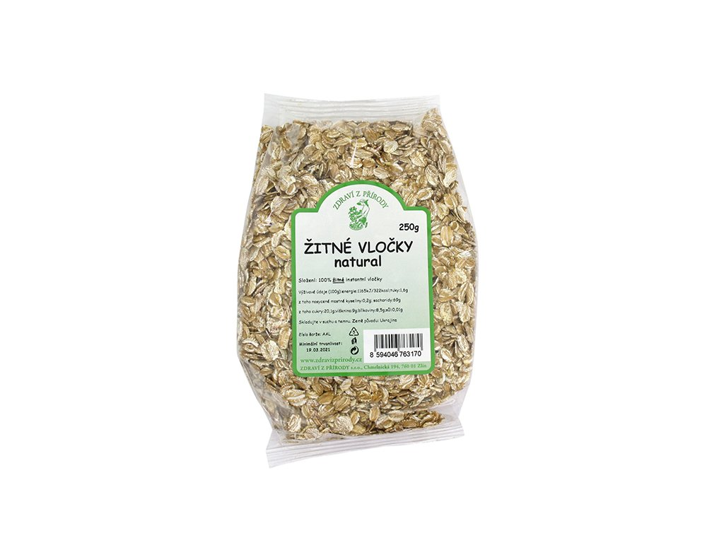 Vločky žitné natural 250g ZP