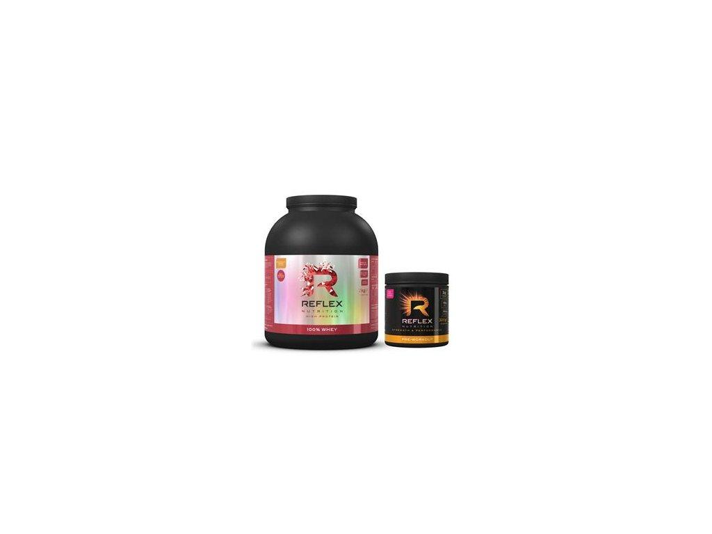 100% Whey Protein 2kg čokoláda+ Pre Workout 300g