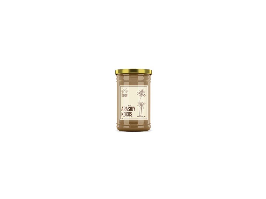 Arašídy - Kokos 60 / 40 mělněné 1000g (Arašídovo-kokosový krém)