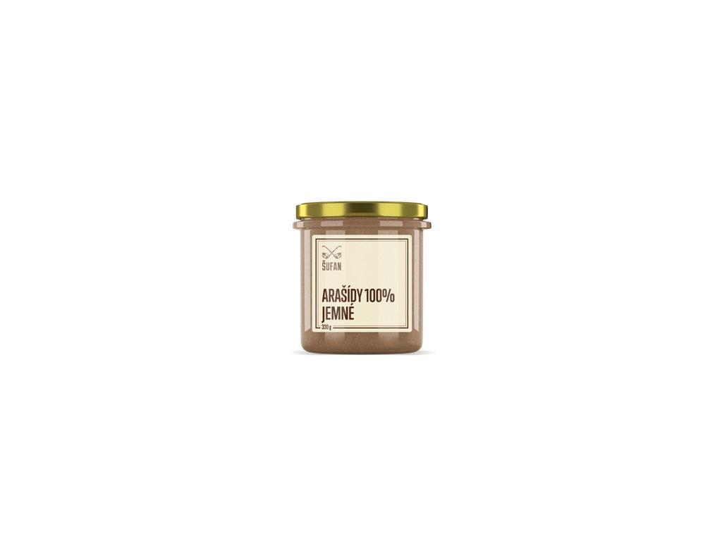 Arašídy 100% pražené mělněné jemné 330g (Arašídový krém jemný)
