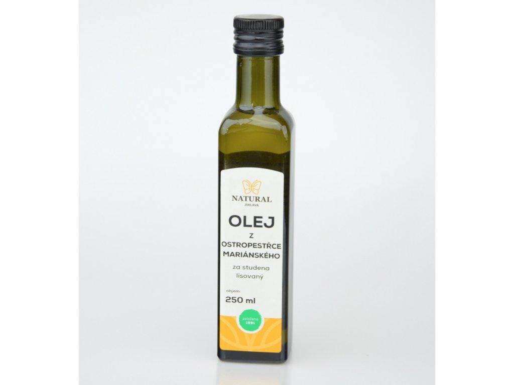 Olej z ostropestřce mariánského za studena lisovaný Natural 250ml