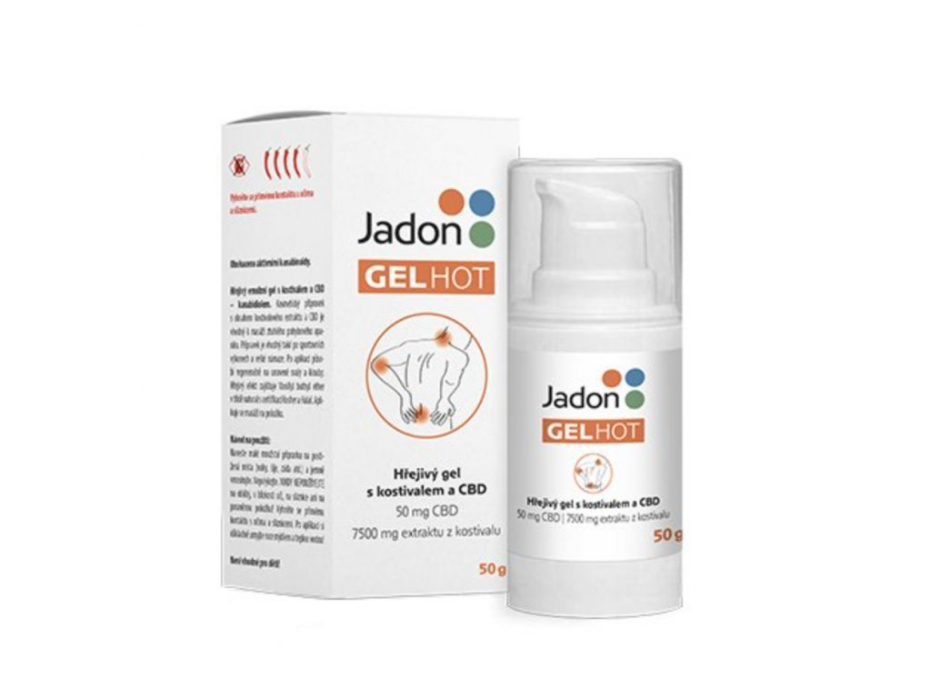 Jadon GEL HOT hřejivý gel s kostivalem a CBD 50g
