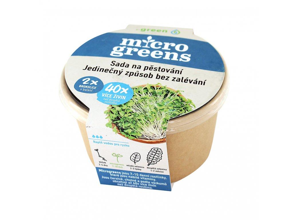 Micro greens sada na pěstování - brokolice