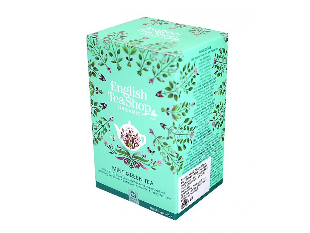 English Tea Shop - máta, zelený čaj BIO