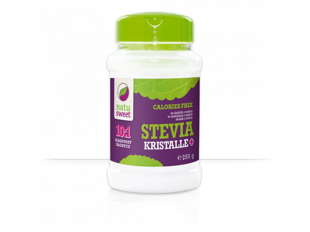 Stevia kristalle 10:1 - stolní sladidlo 250g Natusweet