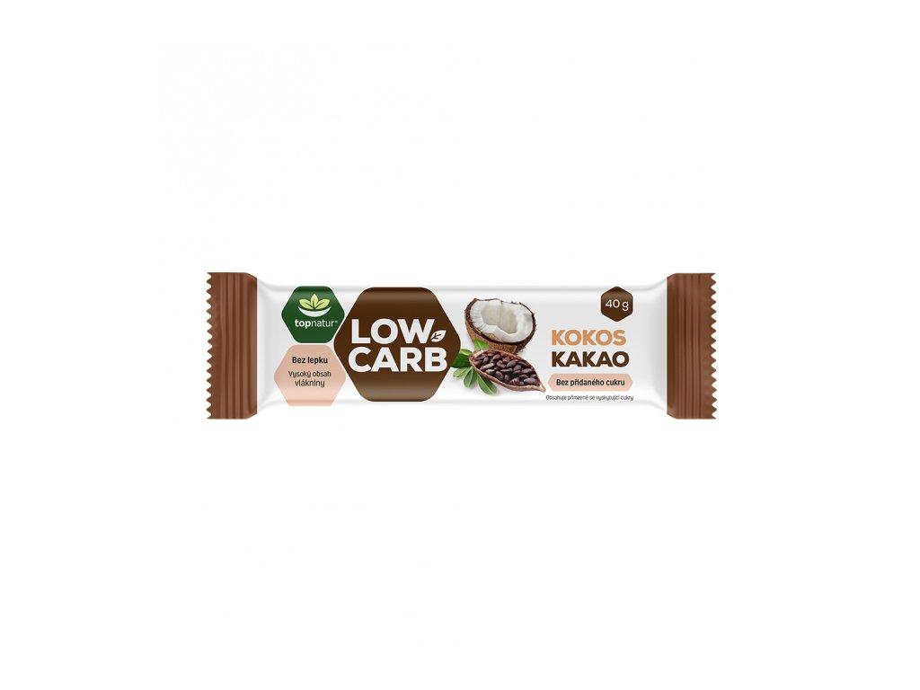 LOW CARB tyčinka kokos kakao 40g Topnatur