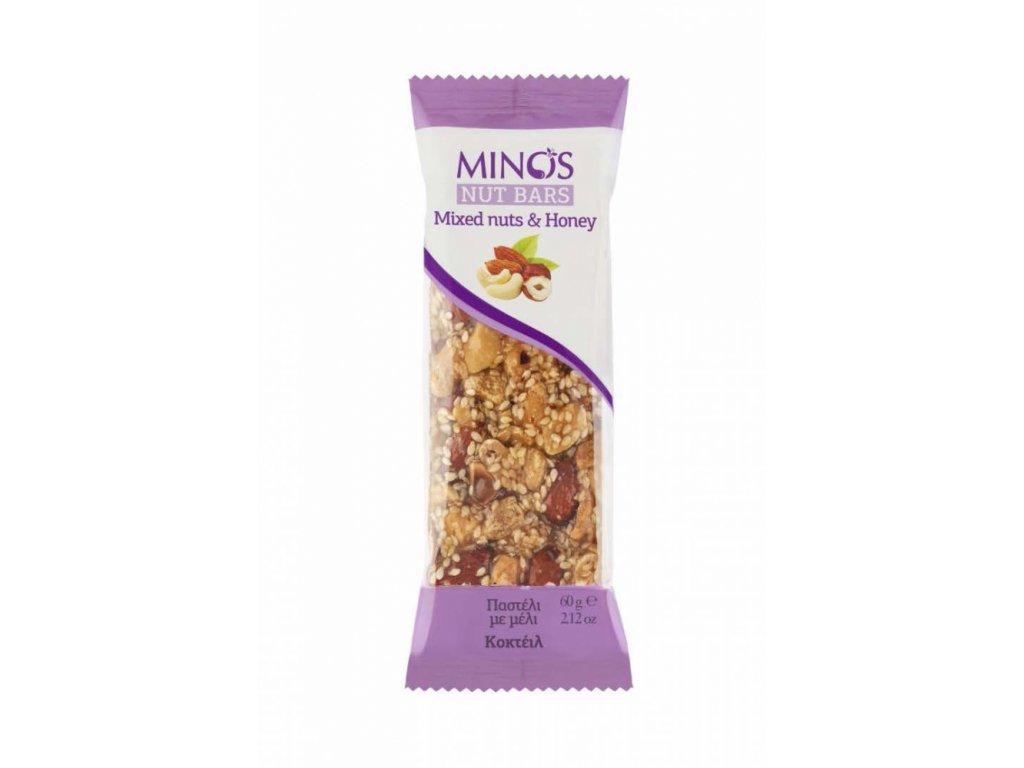 Krétská tyčinka mix ořechů v tymiánovém medu 60g