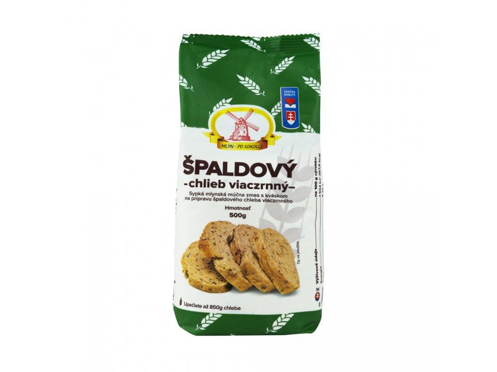 Špaldový chléb vícezrnný 500g PD Sokolce