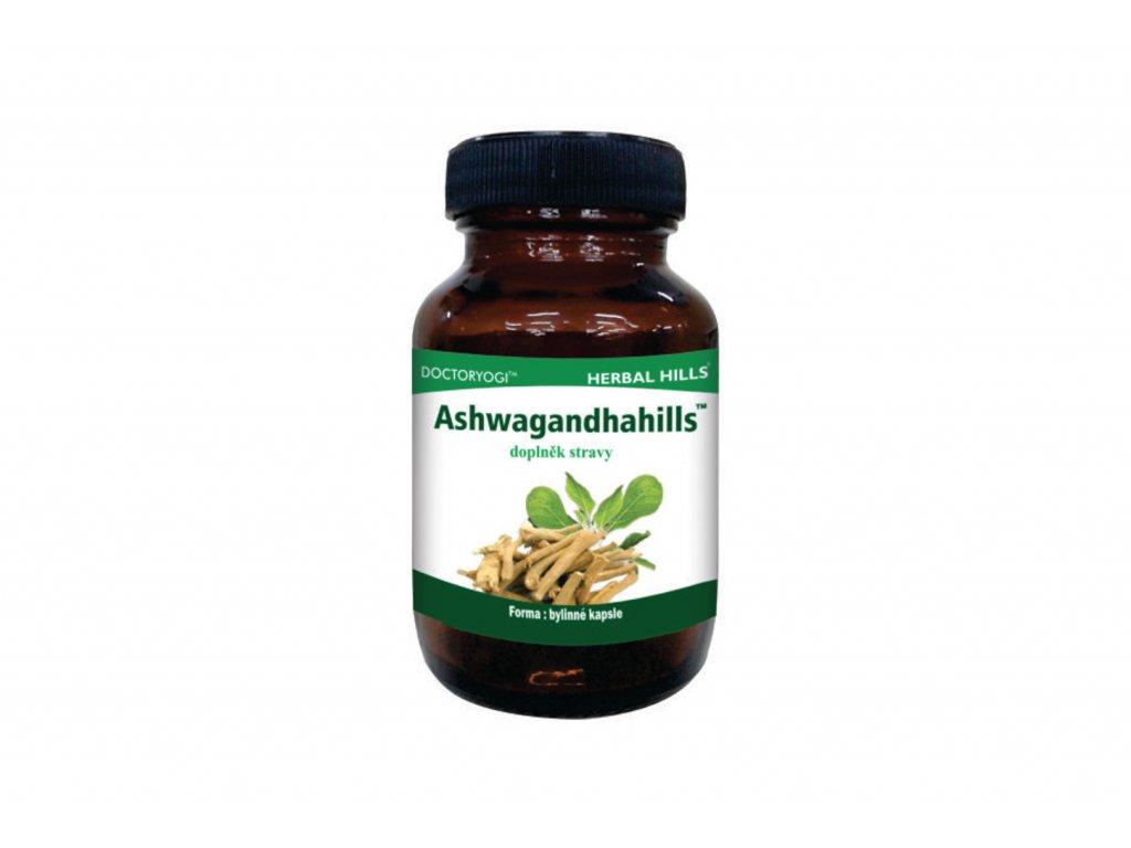 Ashwagandhahills doplněk stravy Herbal Hills 60 veg. kapslí (Energie, vitalita, duševní zdraví, stres & spánek)