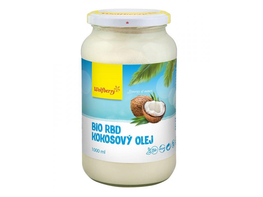 Kokosový olej RBD 1000ml Wolfberry na smažení