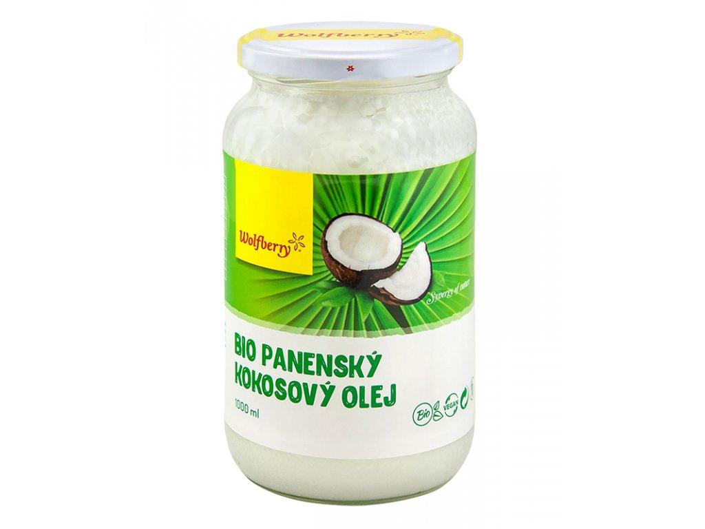 Kokosový olej panenský BIO 1000ml Wolfberry