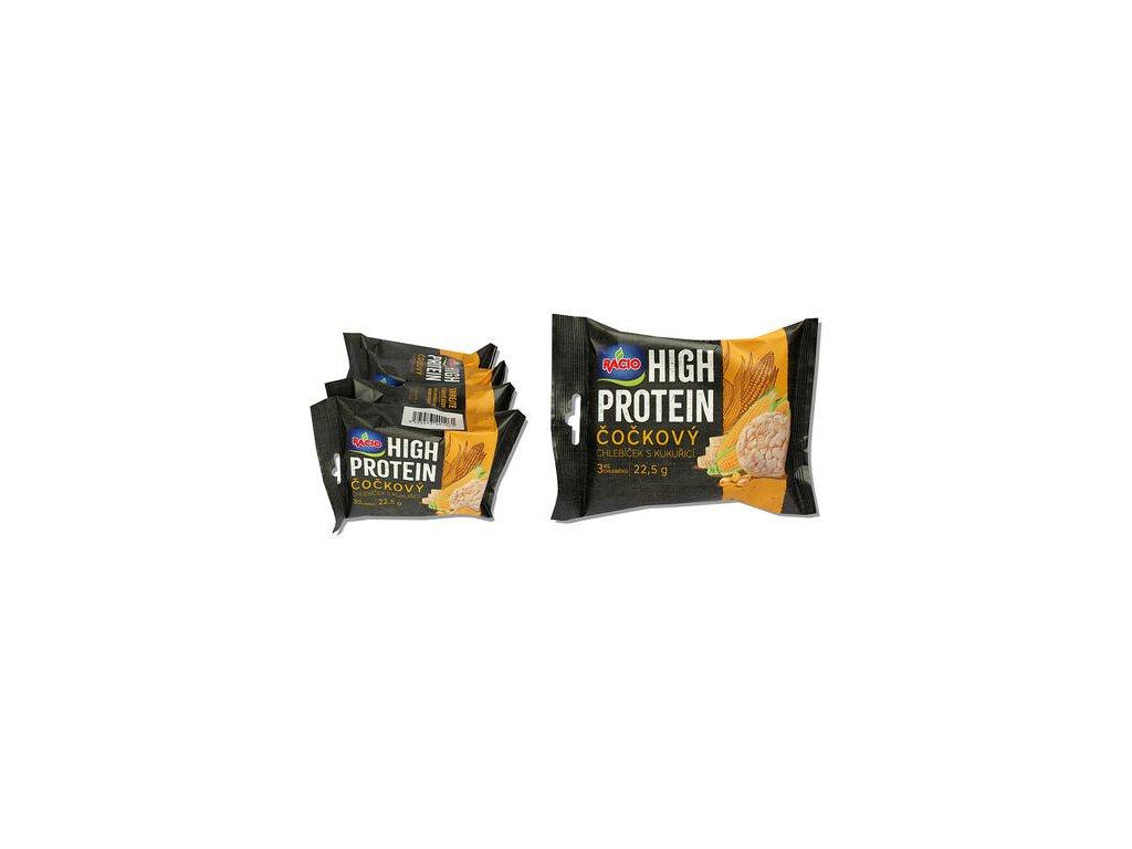 Racio Hight protein čočka s kukuřicí 4x22,5g Racio