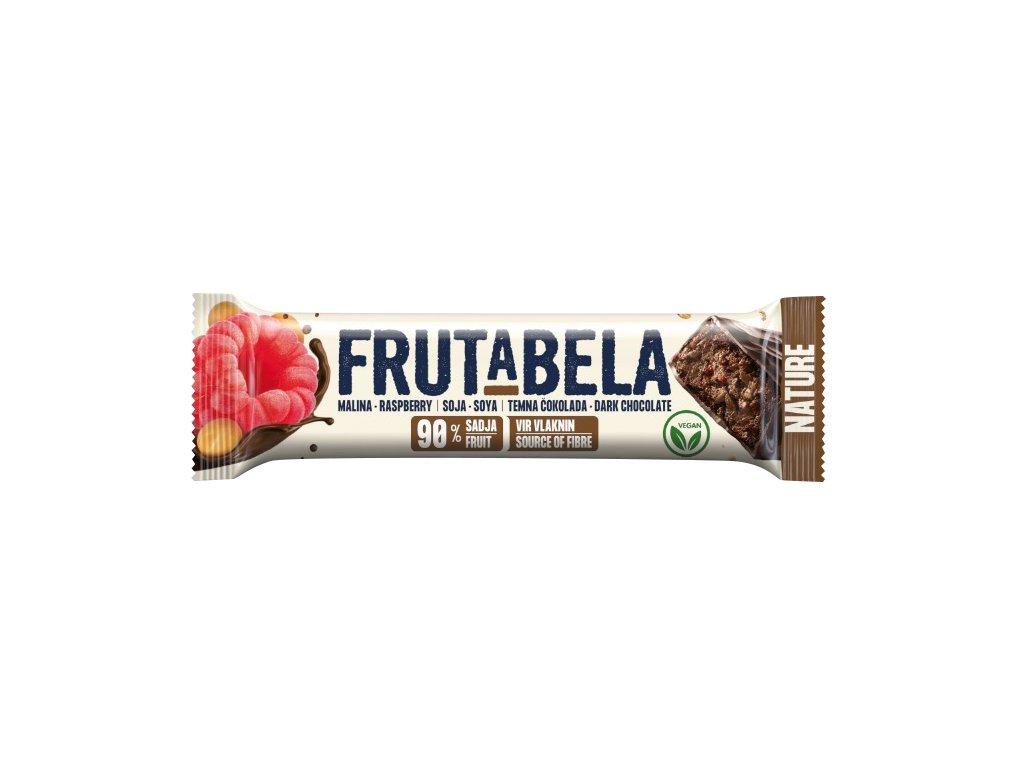 Frutabela nature malina v čokoládě bez cukru 35g Fructal