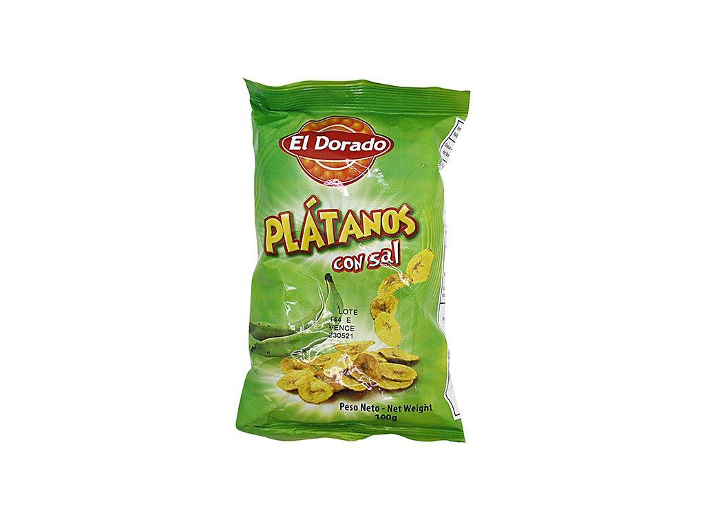 Plátanos sůl (con sal) 100g