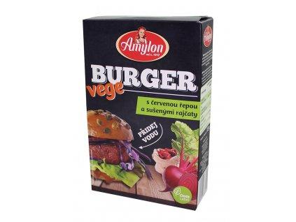Vege burger s červ.řepou a sušenými rajčaty 125g Amylon