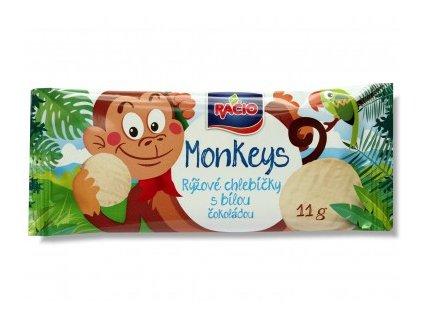 Racio Monkeys rýž. chl. bílá čoko.11g Racio