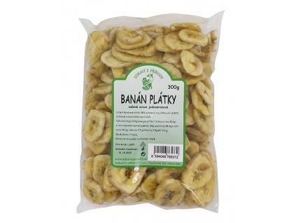 Banán plátky 300g ZP