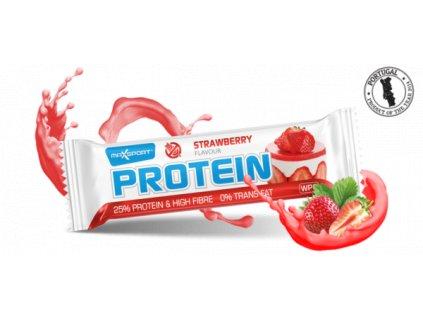 Protein tyčinka jahoda 60g MaxSport