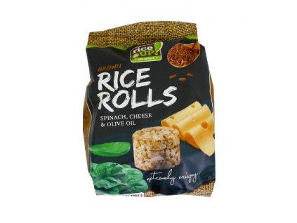 Rýžové minichlebíčky sýr, špenát 50g Nuhealth