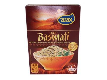 Rýže basmati,parboiled,divoká - krabička 4x120g Arax