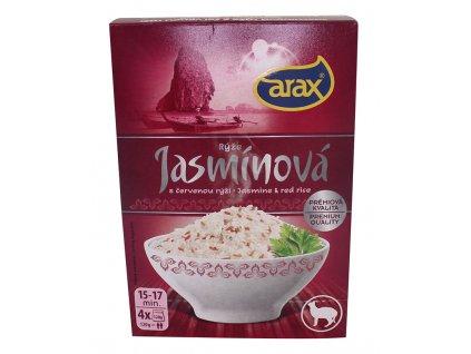 Rýže jasmínová,červená - krabička 4x120g Arax