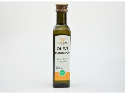 Olej mandlový za studena lisovaný Natural 250ml