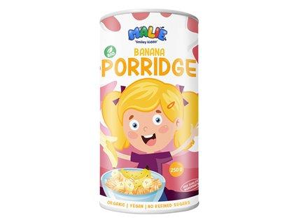 Malie Porridge banana Bio 250g (Ovesná kaše s banánovou příchutí)