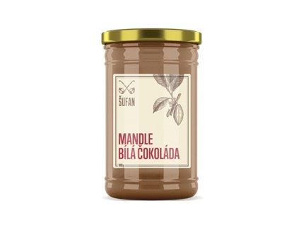 Mandle - Bílá čokoláda pražené mělněné 1000g (Mandlový krém s bílou čokoládou)