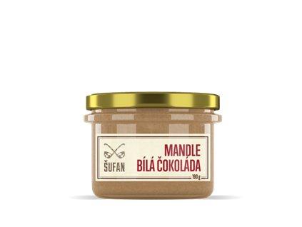 Mandle - Bílá čokoláda pražené mělněné 190g (Mandlový krém s bílou čokoládou)