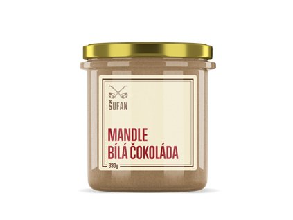 Mandle - Bílá čokoláda pražené mělněné 330g (Mandlový krém s bílou čokoládou)