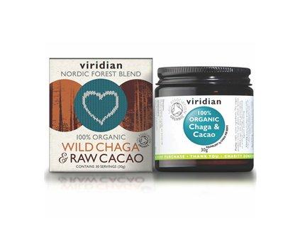 Wild Chaga and Raw Cacao 30g Organic