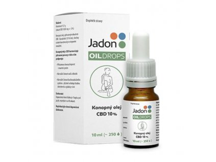 Jadon OIL DROPS konopný olej CBD 10 % 10 ml