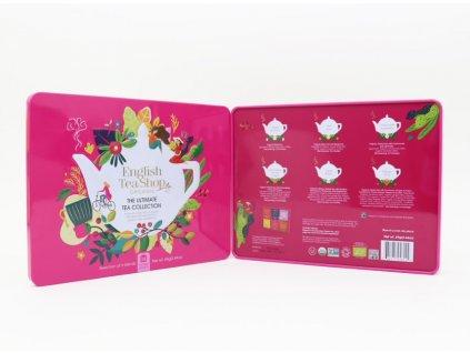 English Tea Shop 36 sáčků - Plechová kazeta červená klasik