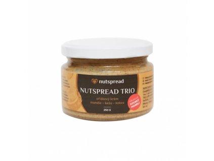 Trio crunchy (s kousky mandlí) 250g Nutspread