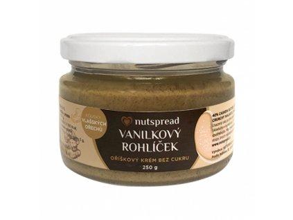 Vanilkový rohlíček (vlašské ořechy, kešu, vanilka) 250g Nutspread