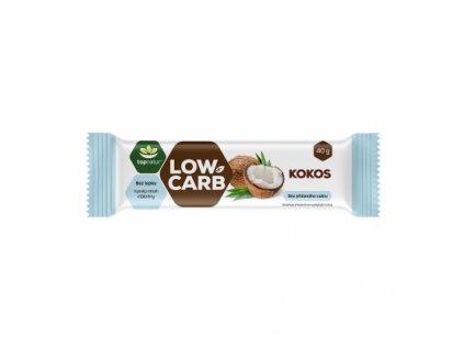 LOW CARB tyčinka kokos natural 40g Topnatur
