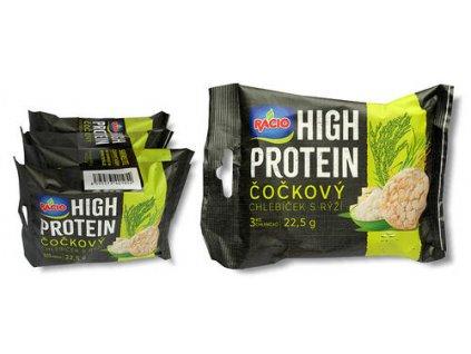 Racio Hight protein čočka s rýží 4x22,5g Racio