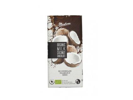 Čokoláda mléčná s kokosem 35% BIO 100g Meybona