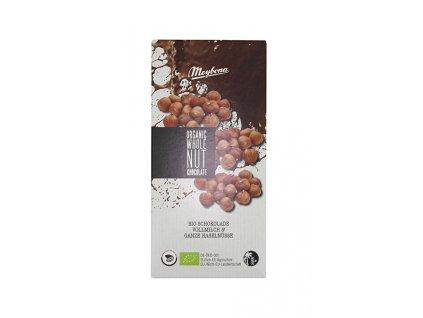 Čokoláda mléčná s lískovými oříšky BIO 100g Meybona