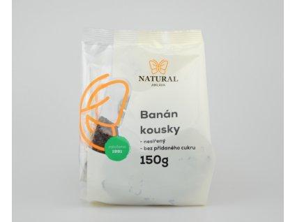 Banán kousky nesířený bez cukru Natural 150g
