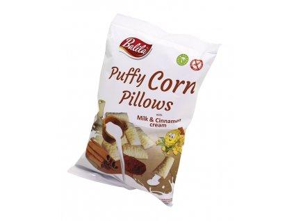 Kukuřičné polštářky skořice s mléčnou náplní 70g Balila