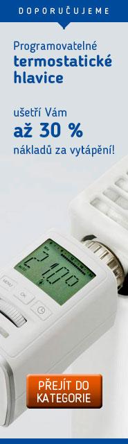 Programovatelné termostatické hlavice – ušetří Vám až 30 % nákladů za vytápění!