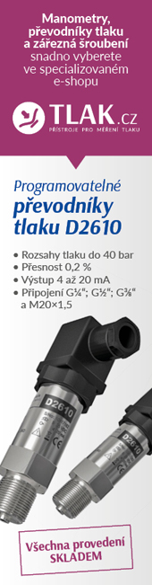 Programovatelné převodníky tlaku D2610 nyní s 30% slevou! Pouze do 31. 8. 2019