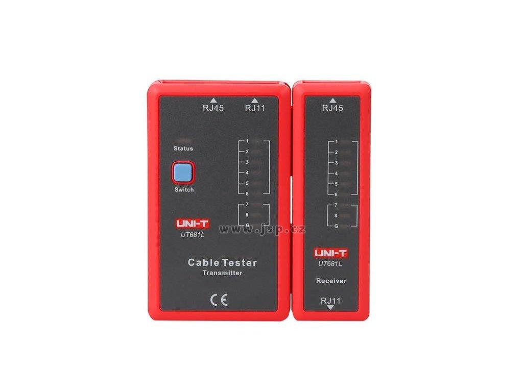 Tester kabelu UNI-T UT681L  (RJ45, RJ11)