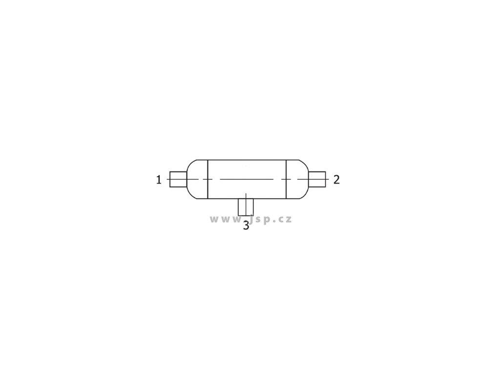 """Kondenzační nádoba DK-LOK řady CP3 s vnitřní závitem 1/2"""" NPT (3x)"""