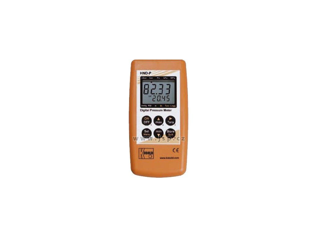KOBOLD HND-P215 Ruční tlakoměr se 2 externími senzory